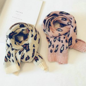 Children scarves Korean boys and girls new winter leopard mixed colors long section of wool scarves warm scarf children