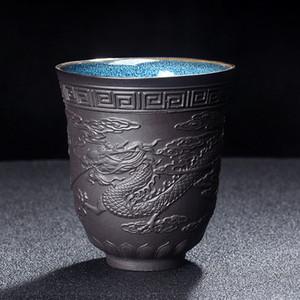 Dragón y Phoenix taza de té hecho a mano Kungfu la taza de té de Pu'er taza de té Vasos Accesorios Accesorios Master Cup Teaware