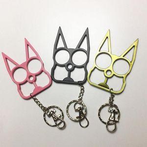 패션 여성 남성 키 체인 귀여운 고양이 원래 도구 키 체인 키 오프너 드라이버 야외 자기 방어