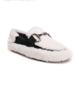 Gli ultimi signora interlock scarpe per l'autunno e l'inverno mocassini piatti pelliccia caldo e confortevole per le donne per fornire tutti i giorni indossare scarpe belle