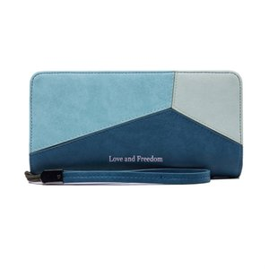 Women Credit Card Wallet Slim Leather Long Wallet with Zipper Pocket for Cash Coin Receipt ID Card