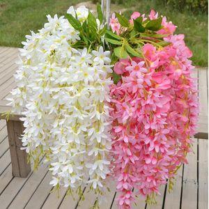 16 Colori Piante All'ingrosso Glicine Hang Seta Fiori Artificiali Vite Fiore Wedding Home Decor Flores Artificiali per la decorazione hogar