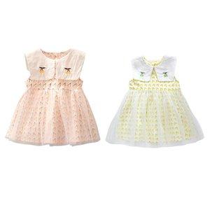 Summer Lovely Flower Girls Dress Baby Girl Cherry Print With Bowknot Dress Toddler Casual Sleeveless SundressI2ln#