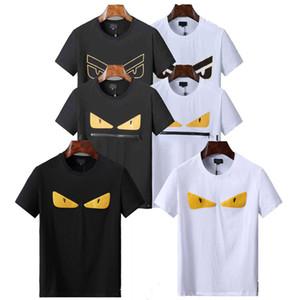 2019 nova Marca de Moda Designer de Camisa T Hip Hop Mens Branco Roupas Casuais T Camisas Para Homens Com Letras Impresso TShirt Tamanho M-3XL