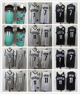 أطفال 2020 شباب مدينة بروكلينشبكةsnba الطبعة كرة السلة الفانيلة 35 كيفن دورانت 7 كيري إيرفينغ 11 بنين قمصان خياطة Black1