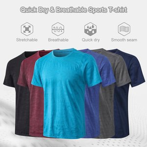 Men Sports T-shirt Camouflage Print Quick Dry Elastic O Neck Short Sleeve Running Fitness Exercise Gym Sportswear
