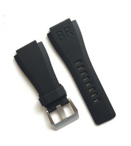 ALTA QUALIDADE BORRACHA DA FAIXA de BORRACHA PARA BR BR01 BR01-92 01-92 pulseira de relógio CORREIA substituir reparação reparo acessório relojoeiro fivela de fecho peças