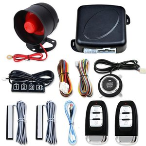 12V Keyless Entry Engine Start Alarm System Push Button Remote Starter Stop Auto Anti-theft Car Search System Kit