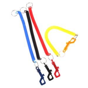 Chaîne de ressort en plastique corde élastique de téléphone mobile sangles lanière de téléphone cou de la chaîne de corde suspendue sangles porte-clés