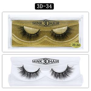 15mm visone ciglia simulazione Beauty Tools morbida Manuale di affilatura falso naturale del ciglio dei cigli di dialogo visone capelli ciglia Big 3D 25 Styles