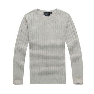 lauren ralph polo Ralph lauren designer de camisola torção camisola de malha de algodão pequeno cavalo Mile de homens marca wile polo camisola de jumper pullover alta qualityO2V8
