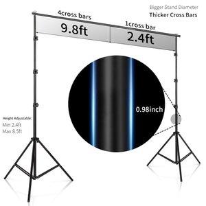 Stüdyo Arka 2.6M X 3M / 8.5 * 10 ft Pro Fotoğraf Fotoğraf Arka planında Arkaplan Destek Sistemi Fotoğraf Video Studio + taşıma çantası için standlar