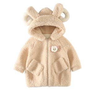 Toddler Baby Winter Long Sleeve Warm Fleece 3d Sheep Hooded Zipper Outerwear Coats Children Down Jacket Warm Clothes