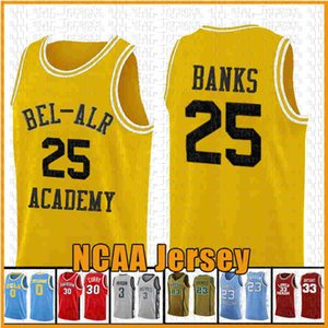 Amour film 22 McCall NCAA Or Fresh Prince 14 Will Smith 25 Jersey Carlton Banks Basketball vert VDF VF