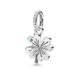New Real 925 Sterling Silver Charm Vintage Four-Leaf Clover Butterfly Ciondolo Ciondolo Charm Pendant Beads Fit Braccialetto Braccialetto Braccialetto FAI DA TE Gioielli