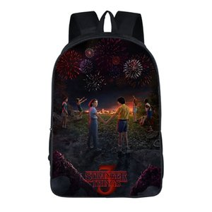 New estranha história 3Stranger Coisas Backpack criativa poliéster Student confortável Bag