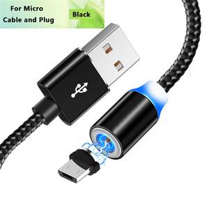 Acgicea Magnetic Carregador Micro USB Cord Cabo ímã Carga Para Samsung 1M 2M redmi Nota 5 Cabos magnéticos Micro USB Cabo de carregamento de arame