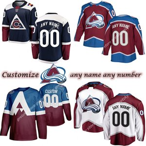 Custom Men's Kids Women's Colorado Avalanche jerseys 8 MAKAR 49 GIRARD 19 SAKIC 21 FORSBERG JOST Customize any number any name hockey jersey
