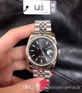 Heißer Verkauf U1 Fabrik Mens-Frauen-Uhr 36mm Medium Size Datejust automatisches mechanisches Saphirglas Edelstahl-Mann-Uhr Weibliche Armbanduhr