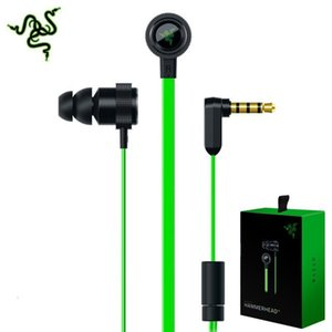 Pro Razer V2 Hammerhead Headphone Earphone Microphone With Retail Box In Ear Gaming Headsets Noise Isolation Stereo Bass 3.5mm 8NVV
