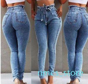 Women High Waist Jeans Fashion Designer Female Tassels Long Pencil Pants Jeans Wulong ky08
