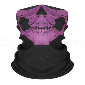 7styles Skull Face Mask Scarves Bandana Outdoor Sports Ski Bike cycling Neck Snood Halloween Party Cosplay Party Masks Bandanas FFA4007-3