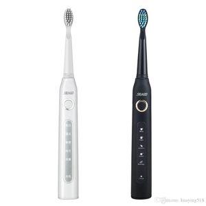 SEAGO SG 507 électrique USB Brosse à dents sonique rechargeable de charge Brosse à dents nettoyant dentaire étanche avec 3pcs tête de rechange