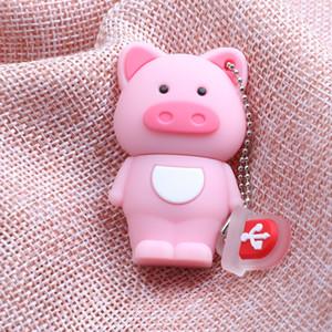 Mini Cute Pig Shape USB 2.0 Flash Thumb Drive Memory Stick With Keychain
