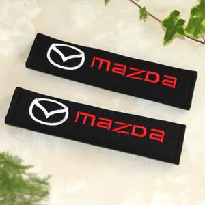 مقعد السيارة حزام حالة تغطية شعارات السيارات لمازدا 3 6-CX 5 2 CX7 929 الكتف وسادة حزام الأمان الغلاف لزينة السيارات التصميم