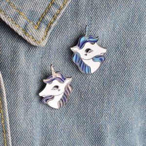 2019 Unicorn Button Pin Badge Collar Pin Spilla Donna Borsa moda Jean Hat Accessori gioielli svegli