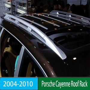 Para Porsche Cayenne 2004-2010 Roof Rack Rails Bar bagagem portador Bares topo da liga Racks Rail caixas de alumínio
