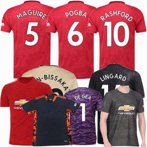 20 21 soccer jersey Manchester B.FERNANDES WAN-BISSAKA DE GEA POGBA LINGARD RASHFORD MAGUIRE United 2019 2020 2021 football men kids shirt