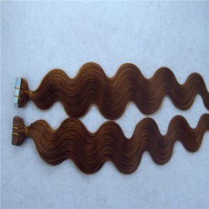 Dark Brown Color Malaysian Hair Remy Human Hair Extensions 2g stand 40pcs pack Tape In Human Hair Skin Weft