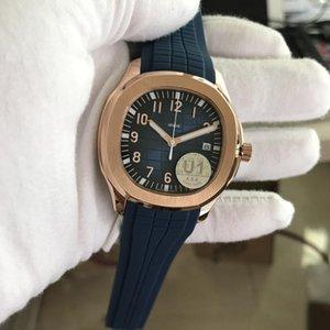 U1 Factory Supplier Movement Engraved Mens Watch Nautilus PP Automatic Mechanical Rubber Strap Transparent Back Blue Dial Men Watch