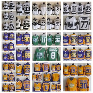 Fashion Retro Los Angeles Kings Jersey 99 Wayne Gretzky 20 Luc Robitaille 16 Marcel Dionne 33 Marty Mcsorley Mens Stitched Hockey Jerseys
