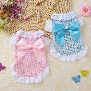 Spring Summer 2020 new pet dress shirt skirt comfortable lace lace breathable cute cat dog lovers outfit teddy pet dress