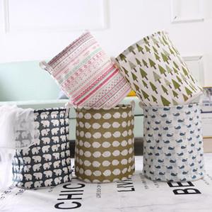 Dobrável sujos roupa Basket 13 Estilos 43 * 37,5 centímetros Dirty Laundry Basket Crianças Início Storage Bag OOA7531