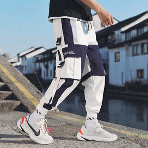Mode Pantalons Streetwear multi hommes poches Pantalon cargo Harem Hip Hop Casual Male piste Joggers Pantalon Harajuku
