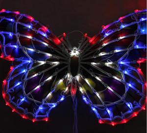 Lumières extérieures lumières décoratives vêtements boutique fenêtre fenêtre décoration lumières de mariage actifs décoration 50cm gros papillon ac110v-240v