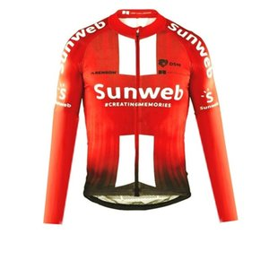 WINTER FLEECE THERMAL ONLY CYCLING JACKETS CLOTHING LONG JERSEY ROPA CICLISMO 2019 SUNWEB PRO TEAM SIZE:XS-4XL