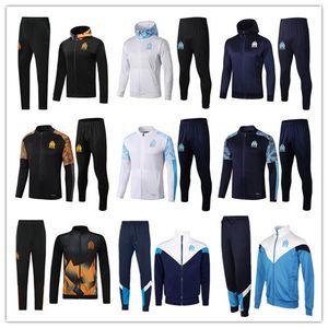 2020 Olympique de Marseille Trainingsfußballjacke Maillot De Fuß 20/21 PAYET BALOTELLI THAUVIN OM Football Jacke voll Zipper Anzug