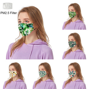 New Style Leaf 3D printed designer face mask with filter dust-proof face mask personalized parody cross-border breathable face masks 2352