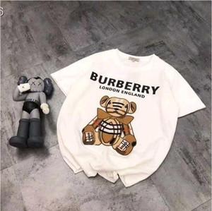 Das neue Baumwolle Bär gestickt Druck T-Shirt für den Sommer 2020 ist ein lockeres, großforma kurzärmeliges schatze beider Outfits für Männer und Frauen