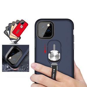 Finger Support Phone Case pour iPhone 11 Pro Max XS XR X Hybrid armure Defender Béquille Case Fringer Grip Fixation du support Car Cover