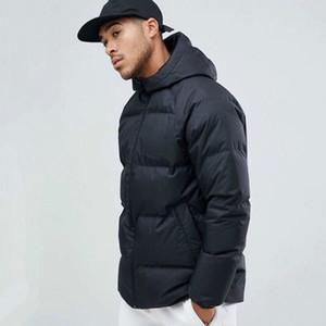 Inverno roupas de marca Double-Sided Designer Mens com capuz acolchoado casacos de inverno Brasão Sports parkas para baixo Windbreaker acolchoado grosso High Street