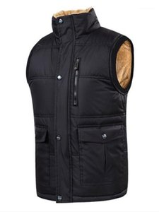 Clothing Solid Color Mens Designer Vests Fashion Loose Thick Zipper Panelled Stand Collar Mens Vests Casual Males