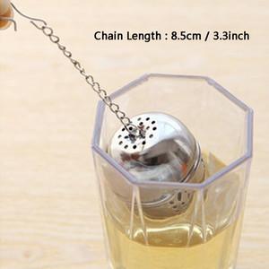 Yeni Paslanmaz çelik bilyalı Çay demlik Küre Filtre Çay Süzgeç Gevşek Tea Leaf Baharat Topu Halat Zincir Kanca Ev Mutfak Aletleri DBC DH2560 ile