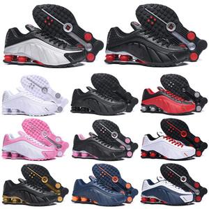 Nike Air Shox Yeni OG R4 Koşu Ayakkabıları Erkek Kadın OZ NZ 301 TESLIMCI Üçlü Siyah Beyaz Mavi Turuncu Gümüş Kırmızı Erkek Eğitmen Spor Sneakers 36-46