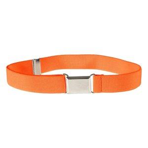 Buckle Adjustable Stretch Unisex Belts Silver Square belt womens Buckle Kids Toddler Belt Elastic cinturones para mujer