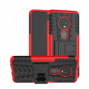 Zırh Hibrid Hard Case For Samsung Galaxy A9 2018 J2 A01 Çekirdek MOTO G7, G8 PLUS LG V50S tarihinde Piksel 5 Sony Xperia 10 Lastik Telefon Kapağı Standı